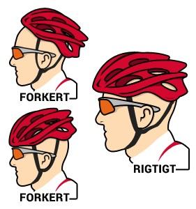 Cykelhjelm indstilling