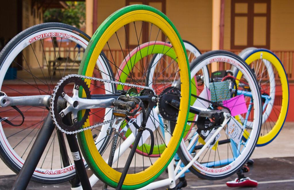 Farverige cykler
