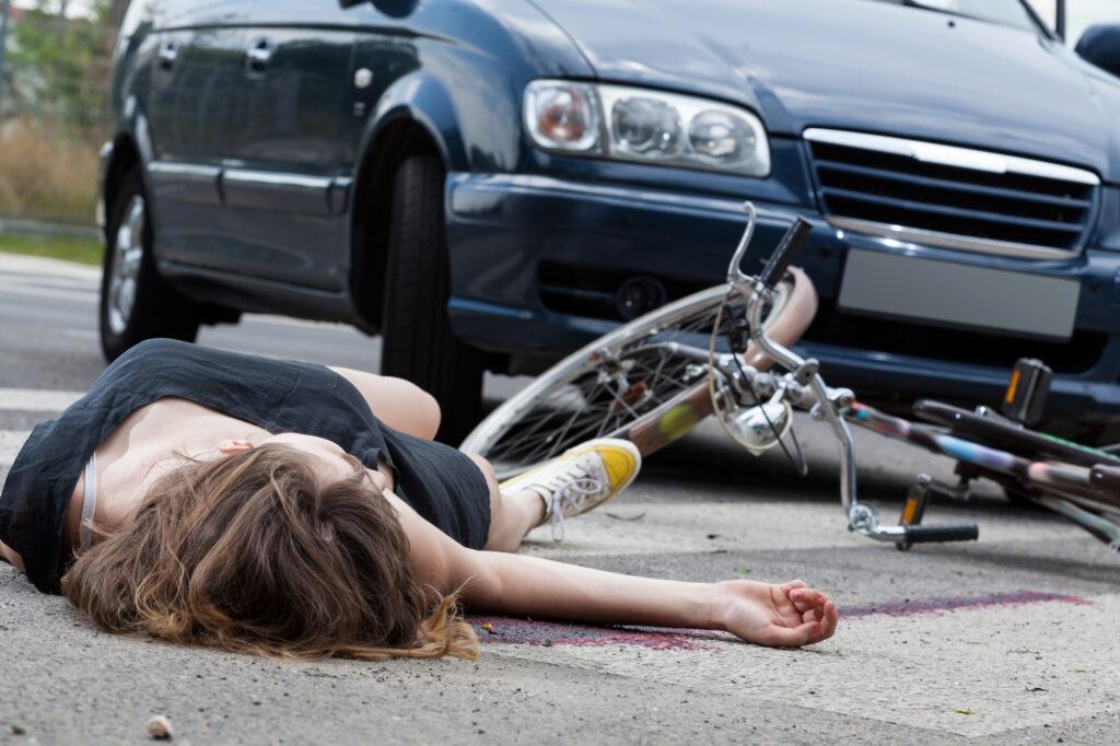 Uheld på cyklen