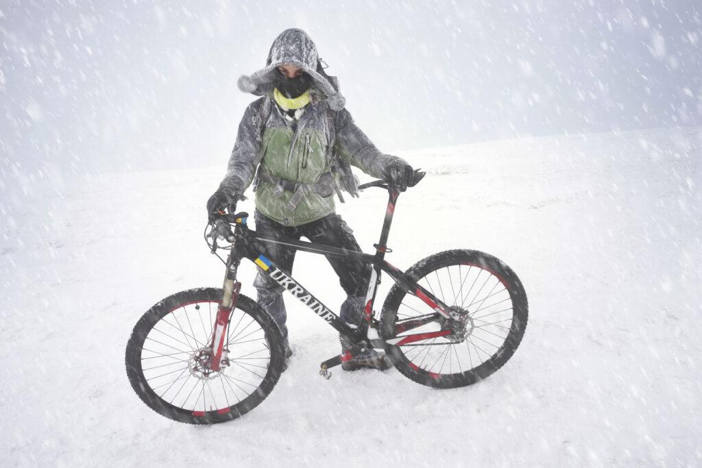 Cykling i sne