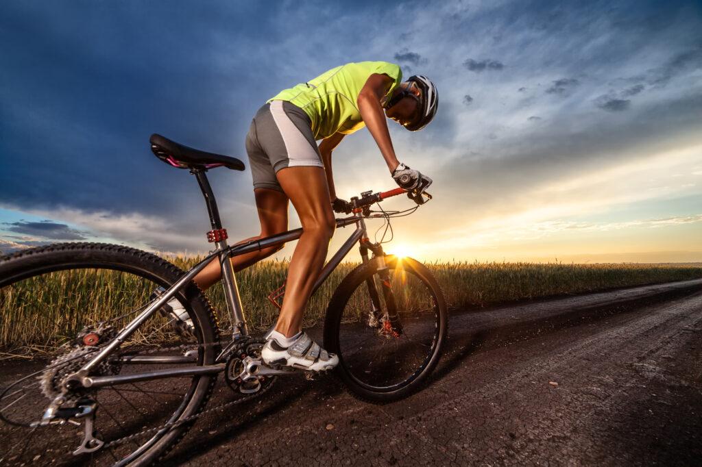 Mandlig cykelrytter