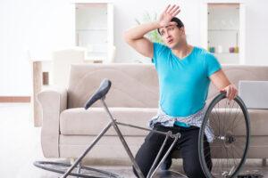 Træt cykelrytter